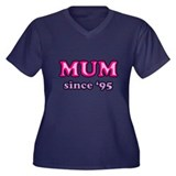 Mum Since 1995 Mother's Day Women's Plus Size V-Ne