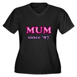 Mum Since 1997 Mother's Day Women's Plus Size V-Ne