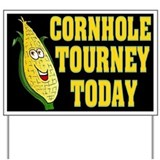 Cornhole Tourney Today Yard Sign