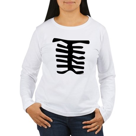 Skeleton Women's Long Sleeve T-Shirt