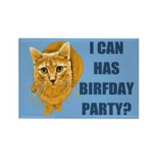 LOLCAT Birthday Party Rectangle Magnet