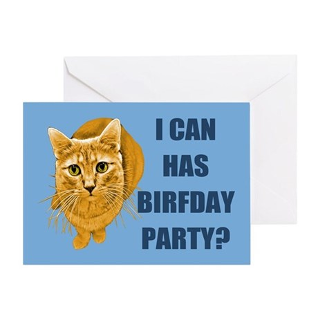 LOLCAT Birthday Party Greeting Card