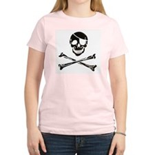 Women's Pink Jolly Roger T-Shirt