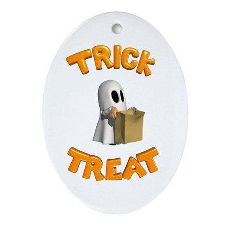 Trick or Treat Oval Ornament