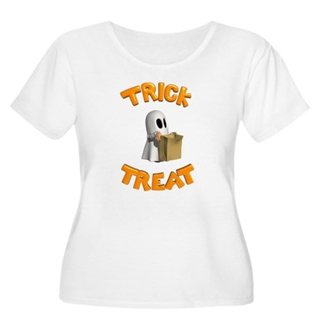 Trick or Treat Women's Plus Size Scoop Neck T-Shir
