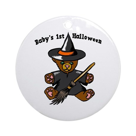 Baby's 1st Halloween Ornament (Round)