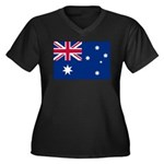 Australia Women's Plus Size V-Neck Dark T-Shirt