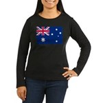 Australia Women's Long Sleeve Dark T-Shirt
