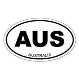 Australia Oval Stickers
