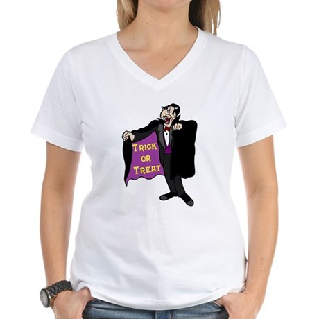 Halloween Vampire Women's V-Neck T-Shirt