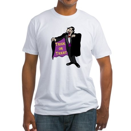 Halloween Vampire Fitted T-Shirt