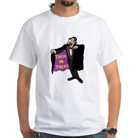 Halloween Vampire White T-Shirt