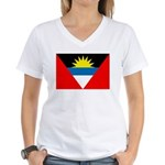 Antigua and Barbuda Women's V-Neck T-Shirt