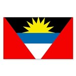 Antigua and Barbuda Rectangle Sticker
