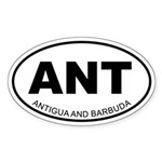 Antigua and Barbuda Oval Sticker