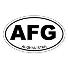 Afghanistan Oval Decal
