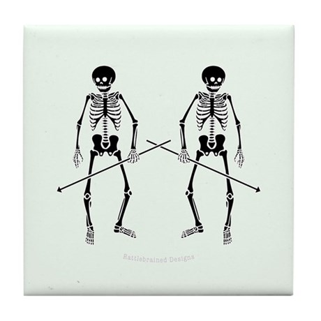 Dance Macabre Tile Coaster