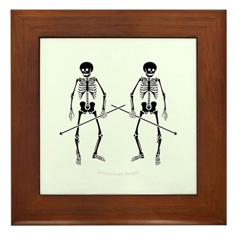 Dance Macabre Framed Tile