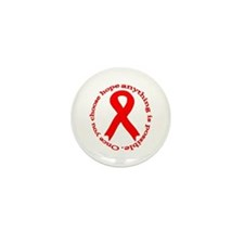 Red Hope Mini Button (10 pack)