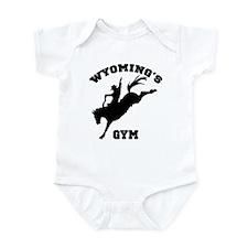 Wyoming's Bronc01 Gym Infant Bodysuit