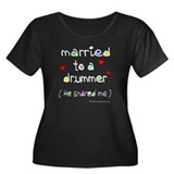 Married to a drummer : Women's Plus Size Scoop Nec