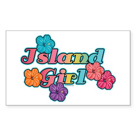Island Girl Rectangle Sticker