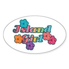 Island Girl Oval Decal