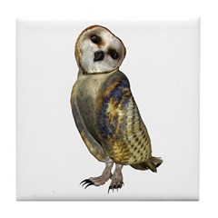 Barn Owl Tile Coaster