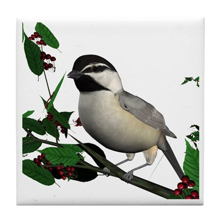 Mountain Chickadee Tile Coaster