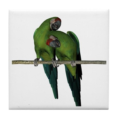 Military Macaw (Pair) Tile Coaster