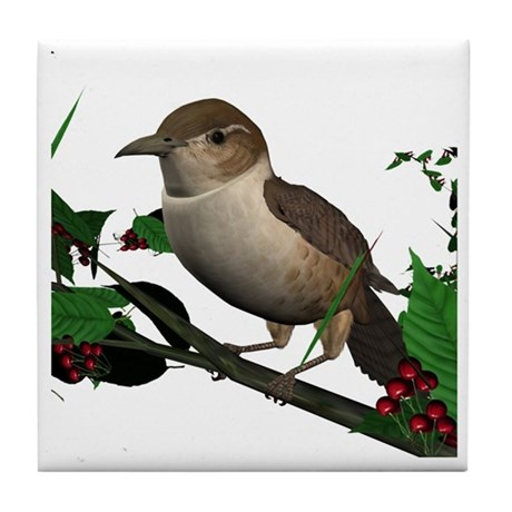 House Wren Tile Coaster