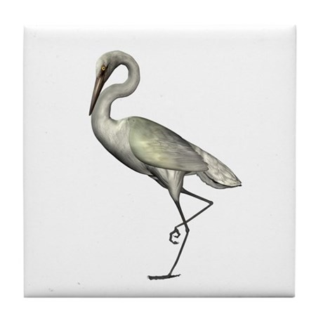 Egret Tile Coaster