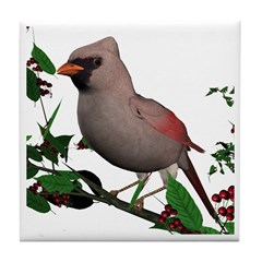Cardinal (female) Tile Coaster