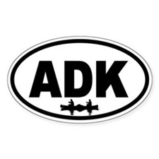 Adirondack ADK Canoe Oval Decal
