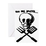 """DEADLY FOOD"" Invitations (Pk of 10)"