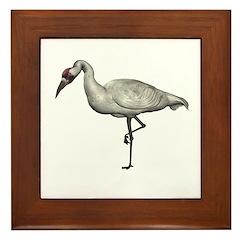 Whooping Crane Framed Tile