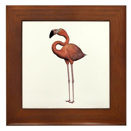Flamingo Framed Tile