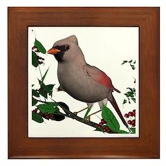 Cardinal (female) Framed Tile