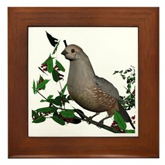 California Quail (female) Framed Tile
