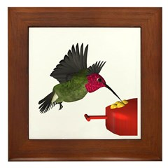 Anna Hummingbird Framed Tile