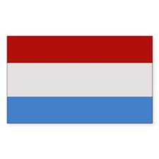 """Luxembourg Flag"" Rectangle Decal"