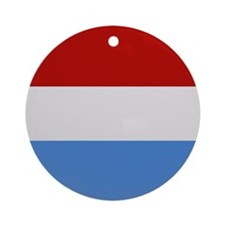"""Luxembourg Flag"" Ornament (Round)"