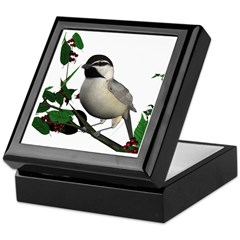 Mountain Chickadee Keepsake Box