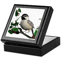 Mountain Chickadee Keepsake Box