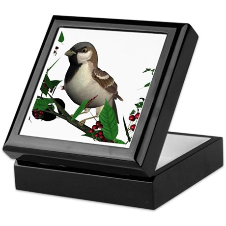 House Sparrow (male) Keepsake Box