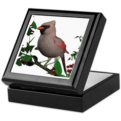 Cardinal (female) Keepsake Box