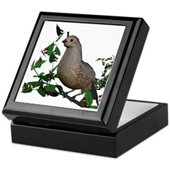 California Quail (female) Keepsake Box