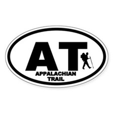 Appalachian Trail Hiker Oval Decal