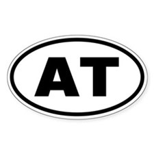 Basic Appalachian Trail Oval Decal