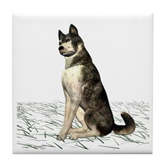 Grey Wolf Tile Coaster